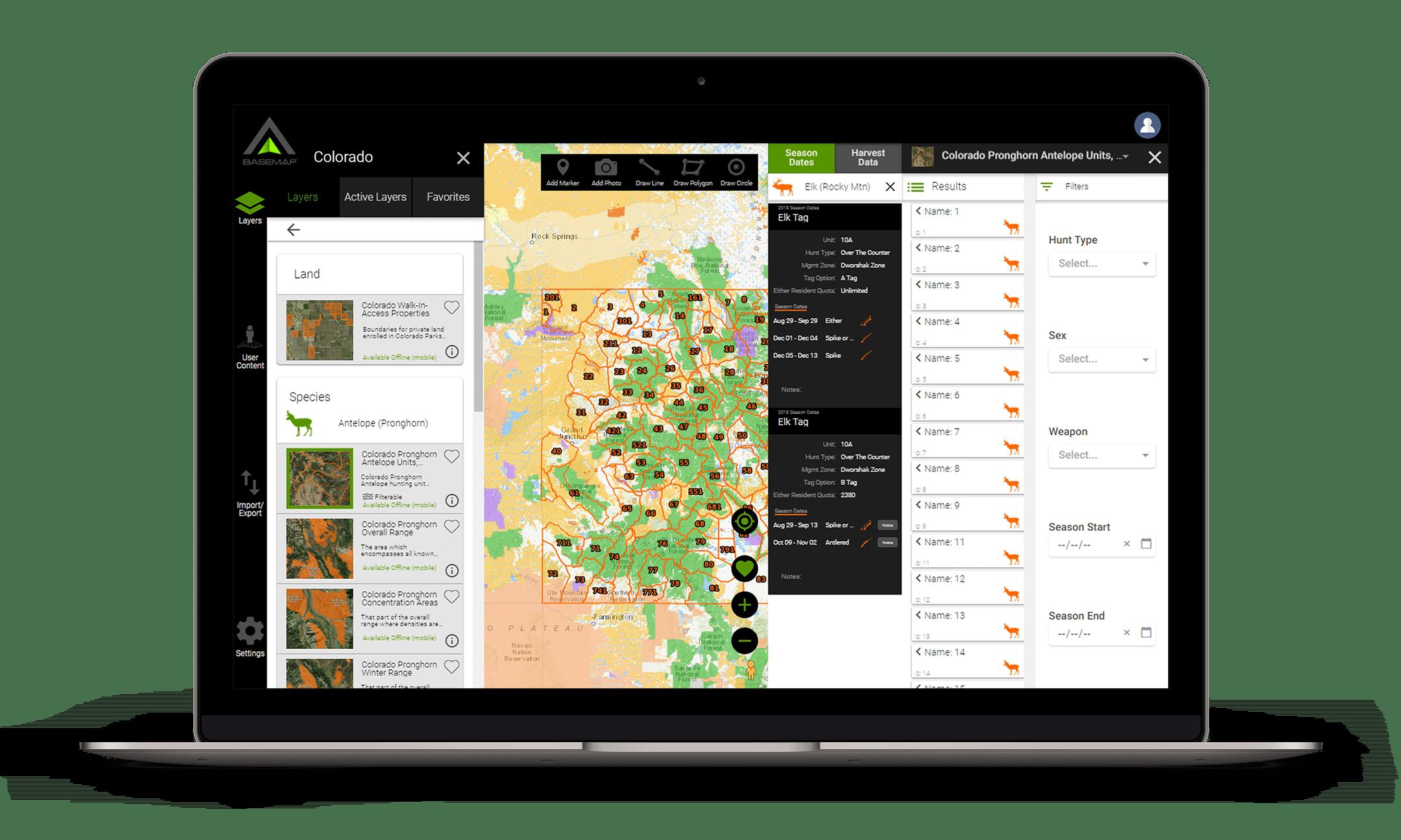 Hunting App - BaseMap