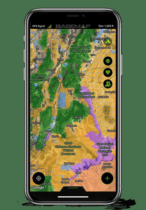 Map X.Hunting App Basemap