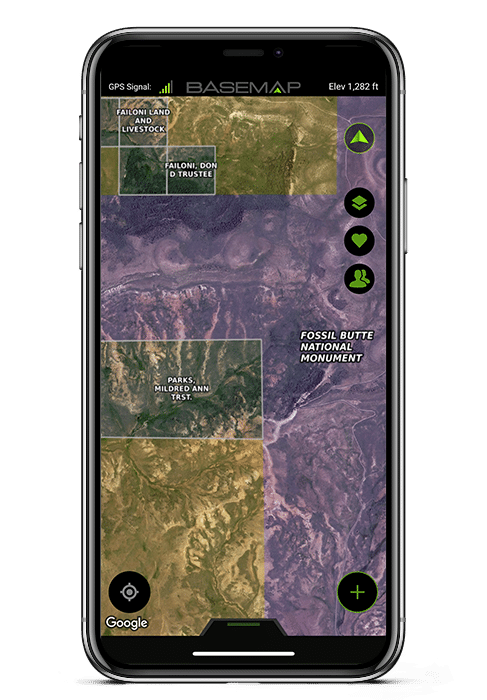 BaseMap Hunting and Fishing GPS Maps - Land Ownership Hunting Maps