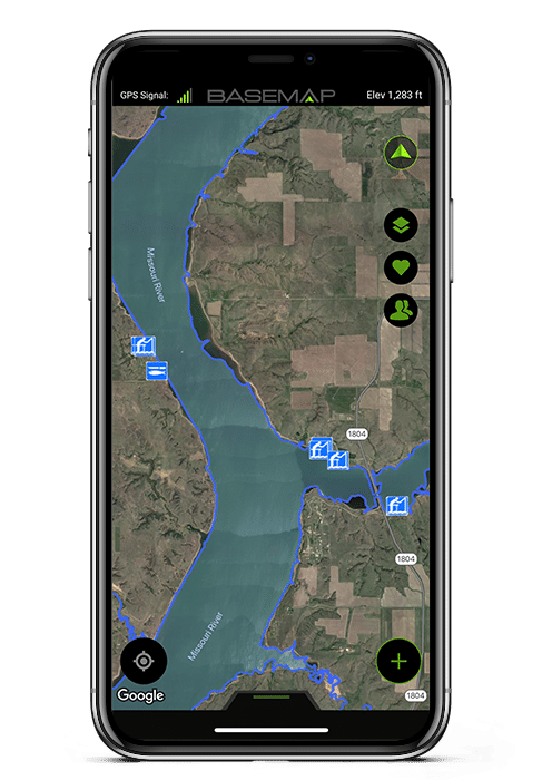 points-of-interest-fishing-fish-angler-water-basemap-gps-mapping-app-missouri-river-iphone-x