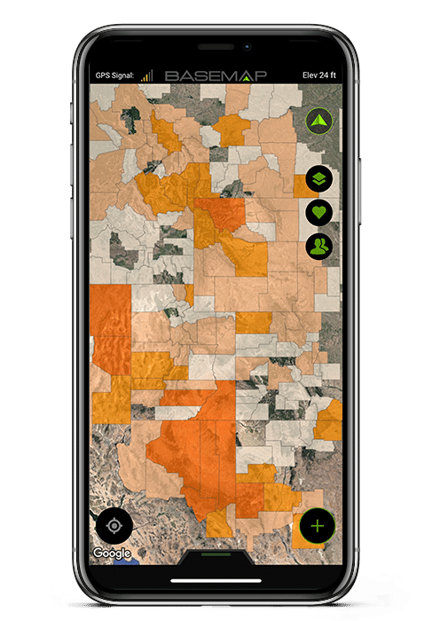 Hunting Map Apps Hunting App   BaseMap